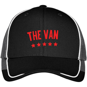 The Van Red Logo C904 Colorblock Mesh Back Cap