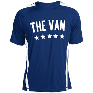 The Van White Logo ST351 Colorblock Dry Zone Crew