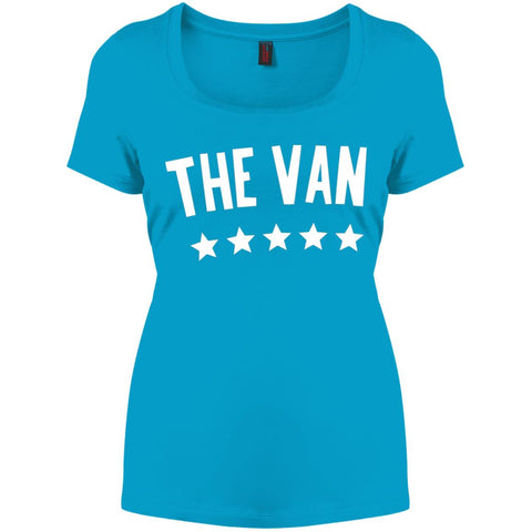 The Van White Logo DM106L Women's Perfect Scoop Neck Tee