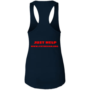 The Van Red Logo NL1533 Ladies Ideal Racerback Tank