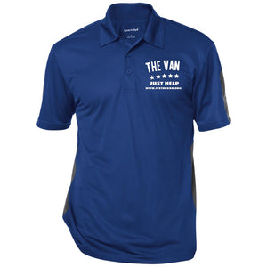The Van White Logo ST695 Performance Textured Three-Button Polo