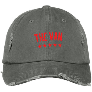 The Van Red Logo DT600 Distressed Dad Cap