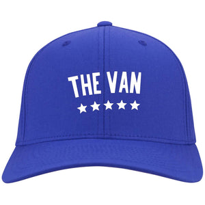 The Van White Logo C813 Flex Fit Twill Baseball Cap