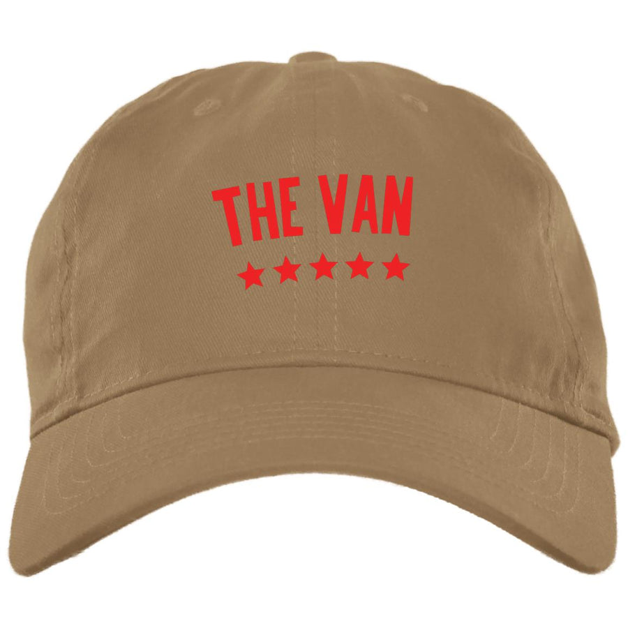 The Van Red Logo BX001 Brushed Twill Unstructured Dad Cap