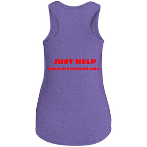 The Van Red Logo DM138L Women's Perfect Tri Racerback Tank