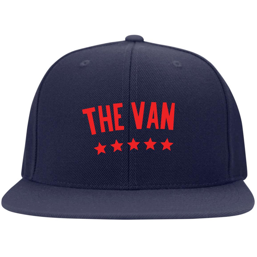 The Van Red Logo STC19 Flat Bill High-Profile Snapback Hat