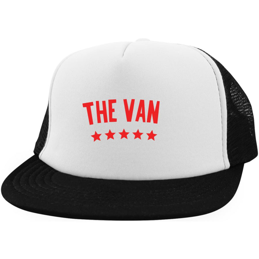 The Van Red Logo DT624 Trucker Hat with Snapback