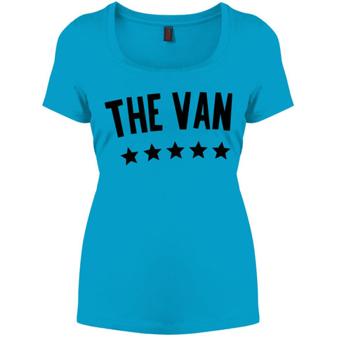 The Van Black Logo DM106L Women's Perfect Scoop Neck Tee