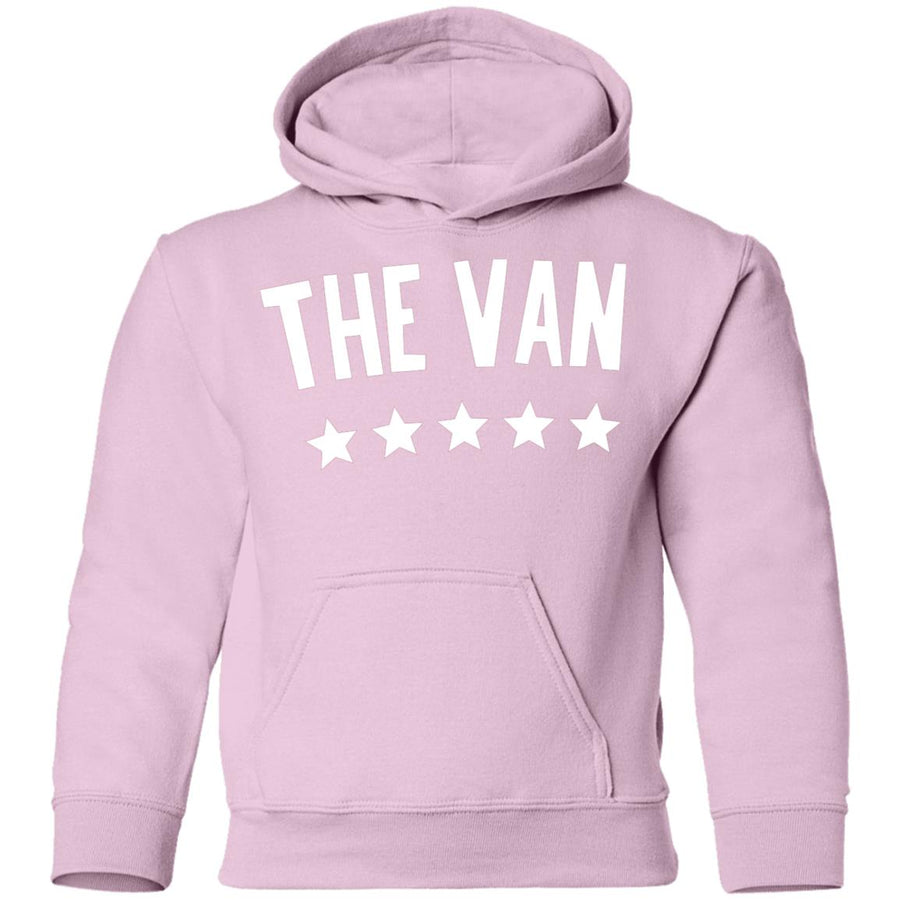 The Van White Logo G185B Youth Pullover Hoodie (White)