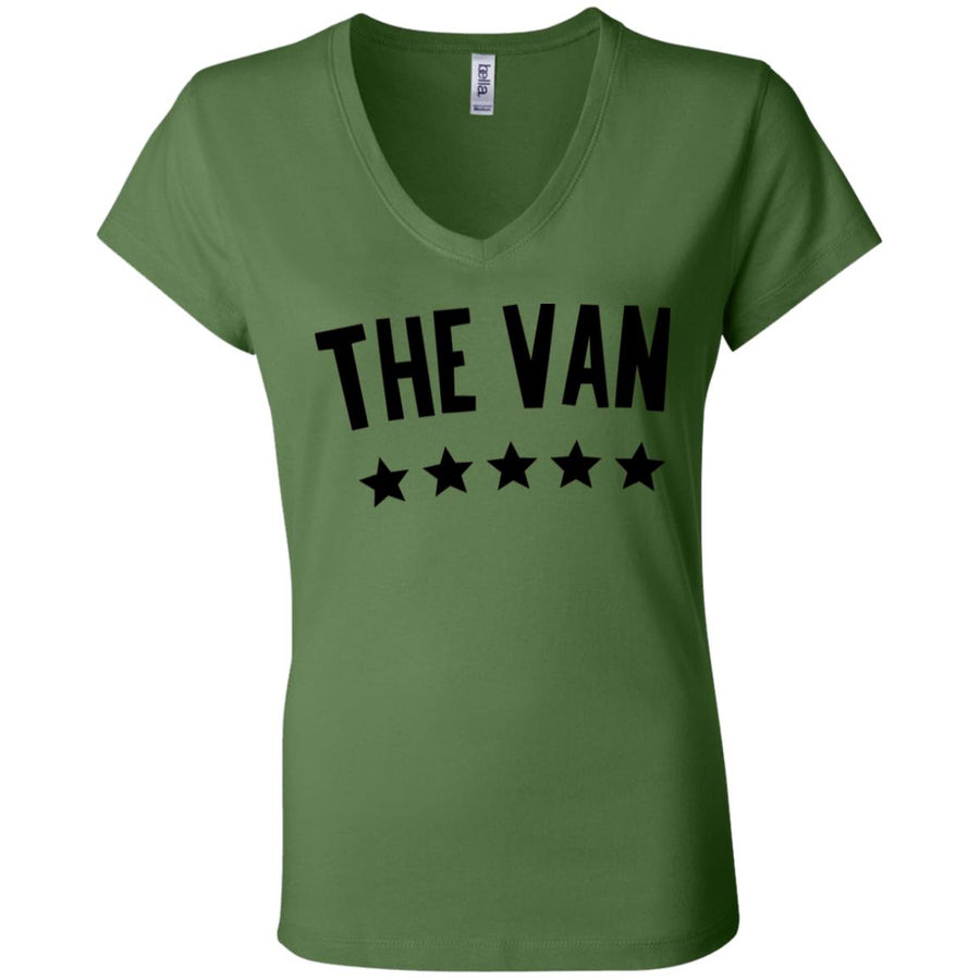 The Van Black Logo B6005 Ladies' Jersey V-Neck T-Shirt