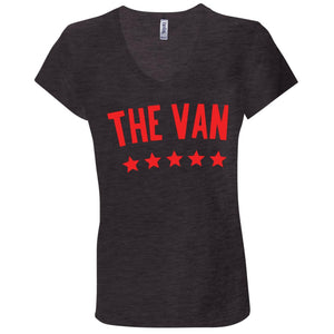 The Van Red Logo B6005 Ladies' Jersey V-Neck T-Shirt