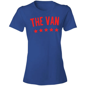 The Van Red Logo 880 Ladies' Lightweight T-Shirt 4.5 oz