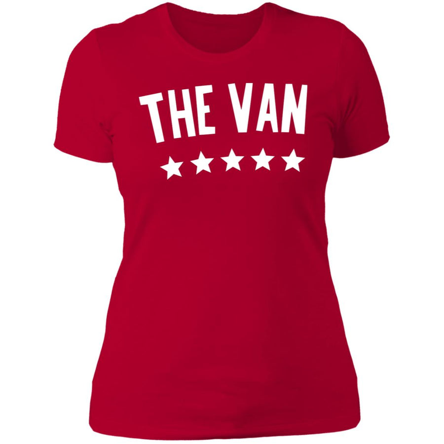 The Van White Logo NL3900 Ladies' Boyfriend T-Shirt