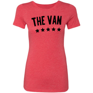 The Van Black Logo NL6710 Ladies' Triblend T-Shirt