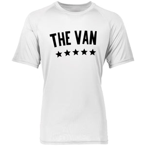 The Van Black Logo 2790 Raglan Sleeve Wicking Shirt