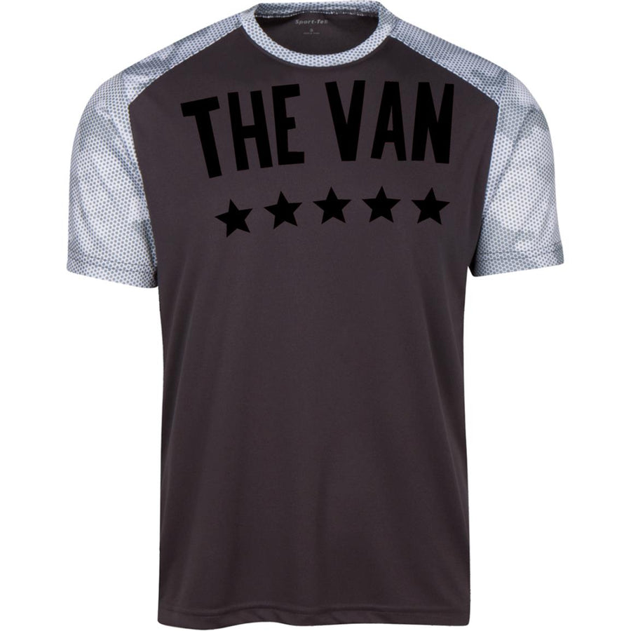 The Van Black Logo YST371 Youth CamoHex Colorblock T-Shirt