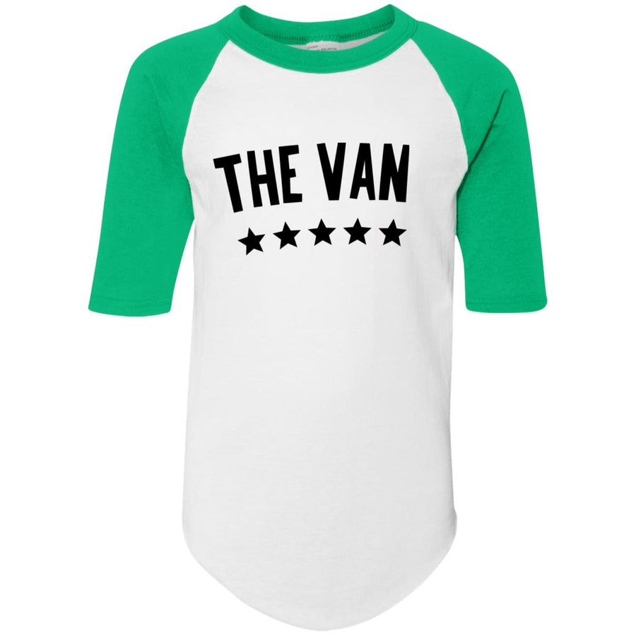 The Van Black Logo 4421 Youth Colorblock Raglan Jersey
