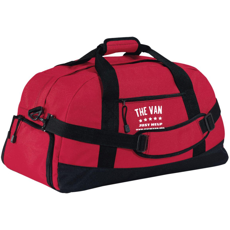 The Van White Logo BG980 Basic Large-Sized Duffel Bag