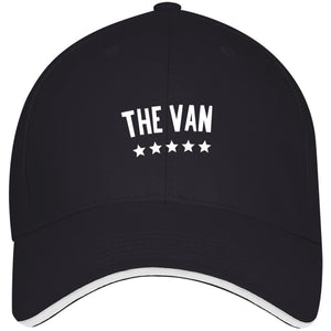 The Van White Logo 3621 USA Made Structured Twill Cap With Sandwich Visor
