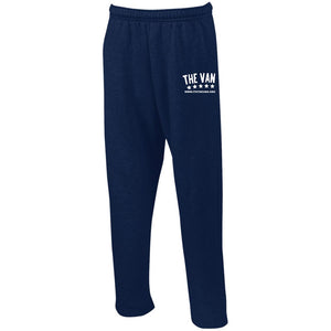 Its The Van (White) G123 Open Bottom Sweatpants with Pockets