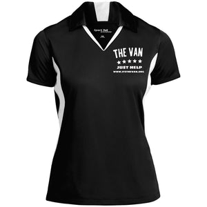 The Van White Logo LST655 Ladies' Colorblock Performance Polo