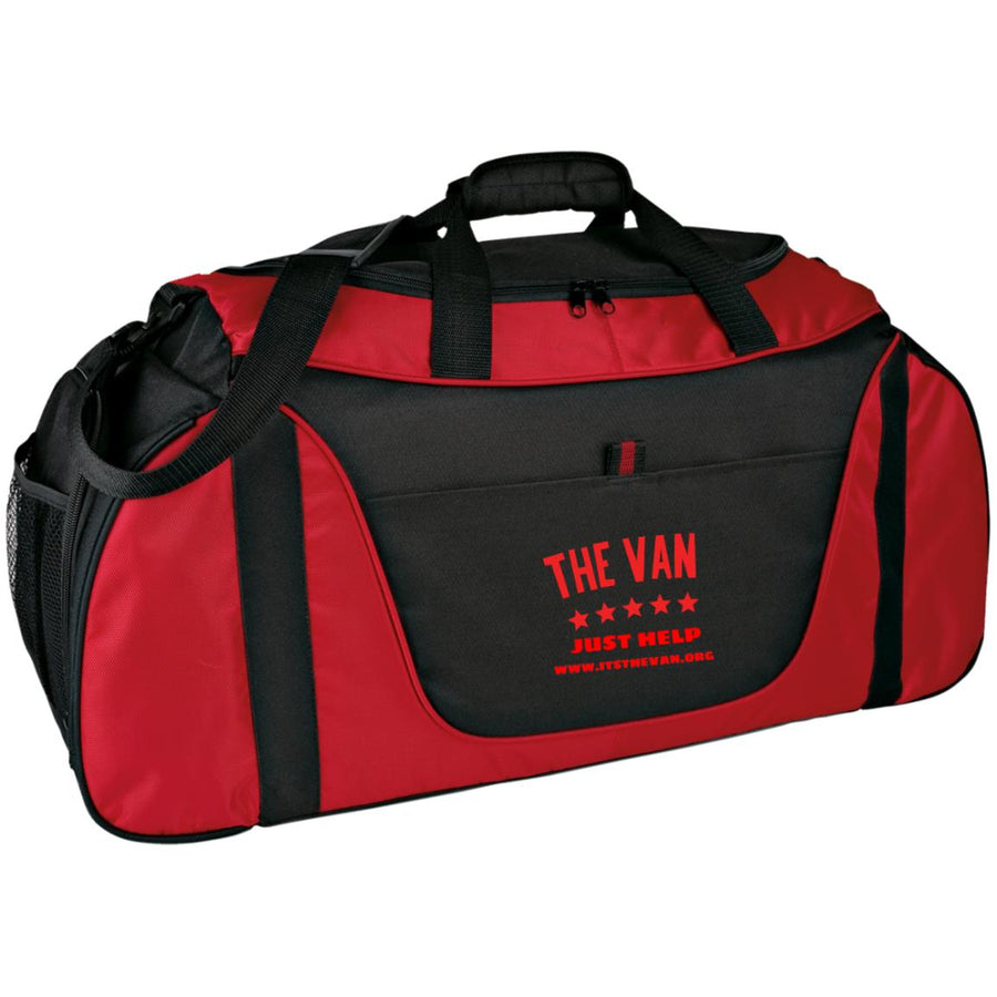 The Van Red Logo BG1050 Medium Color Block Gear Bag