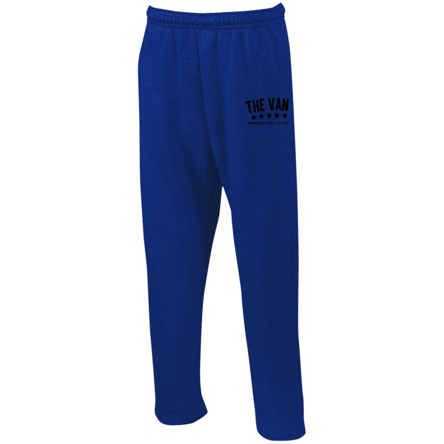 Its The Van (Black) G123 Open Bottom Sweatpants with Pockets