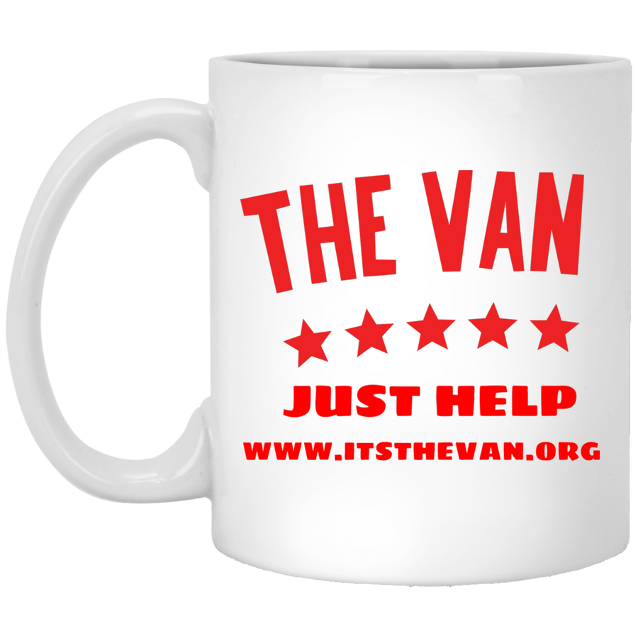 The Van Red Logo White Mug