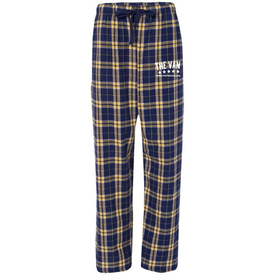 Its The Van (White) F20 Unisex Flannel Pants