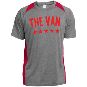 The Van Red Logo YST361 Youth Colorblock Performance T-Shirt
