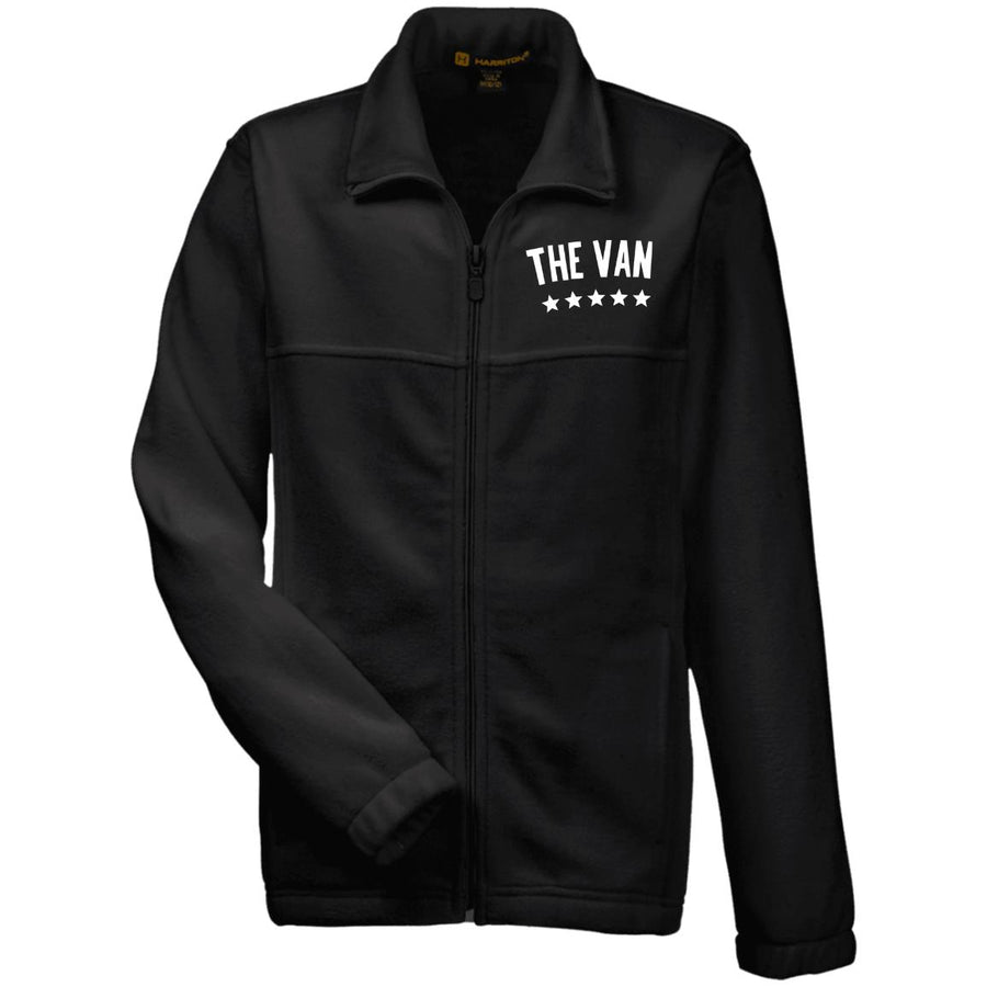 The Van White Logo M990Y Youth Fleece Full Zip (White)