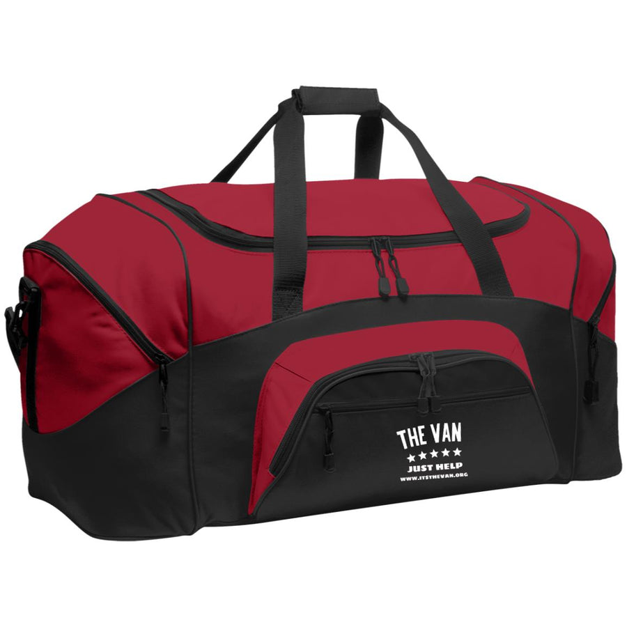 The Van White Logo BG99 Colorblock Sport Duffel