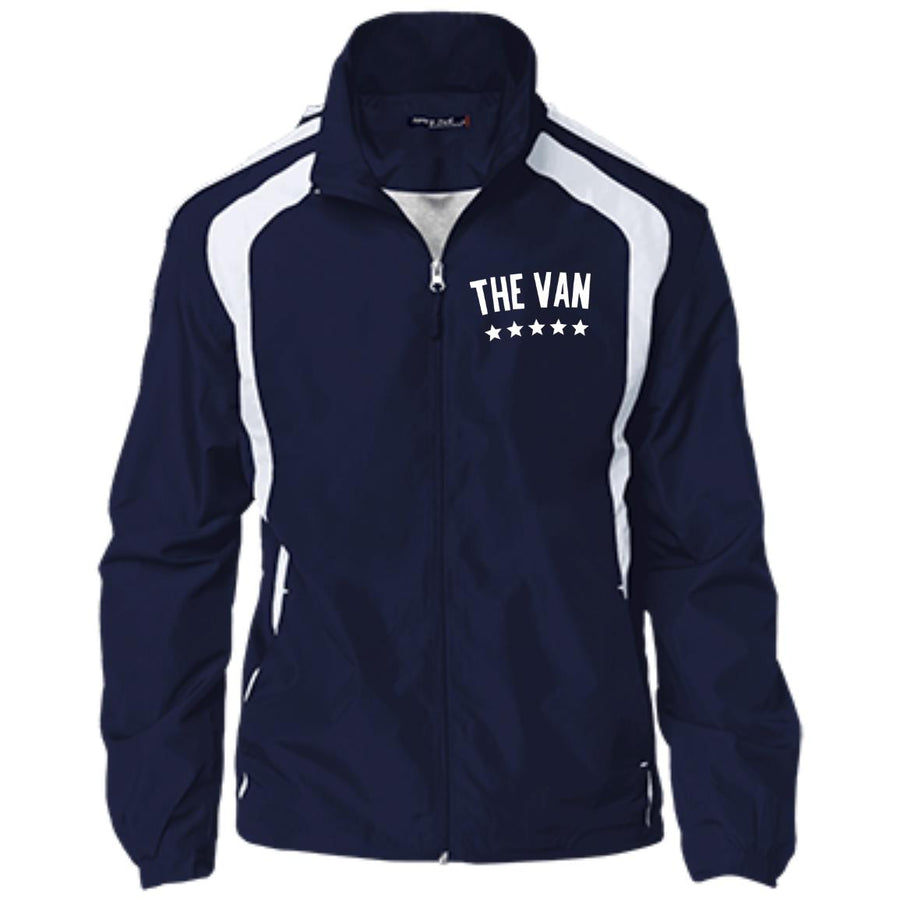 The Van White Logo YST60 Youth Colorblock Jacket (White)
