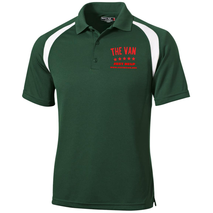 The Van Red Logo T476 Moisture-Wicking Tag-Free Golf Shirt