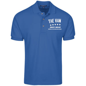 The Van White Logo K420 Cotton Pique Knit Polo