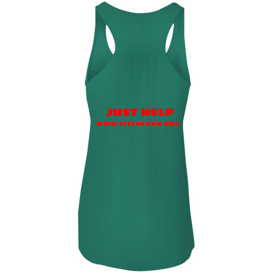 The Van Red Logo B8800 Flowy Racerback Tank