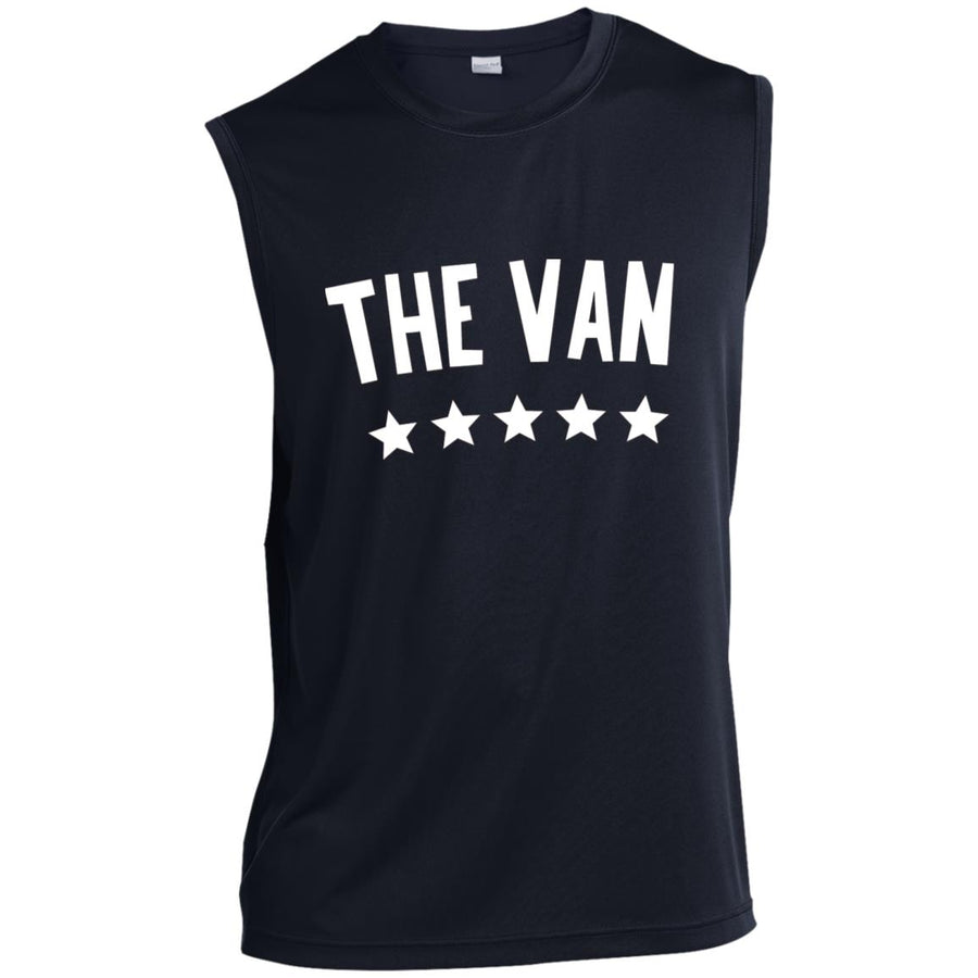 The Van White Logo ST352 Sleeveless Performance T-Shirt