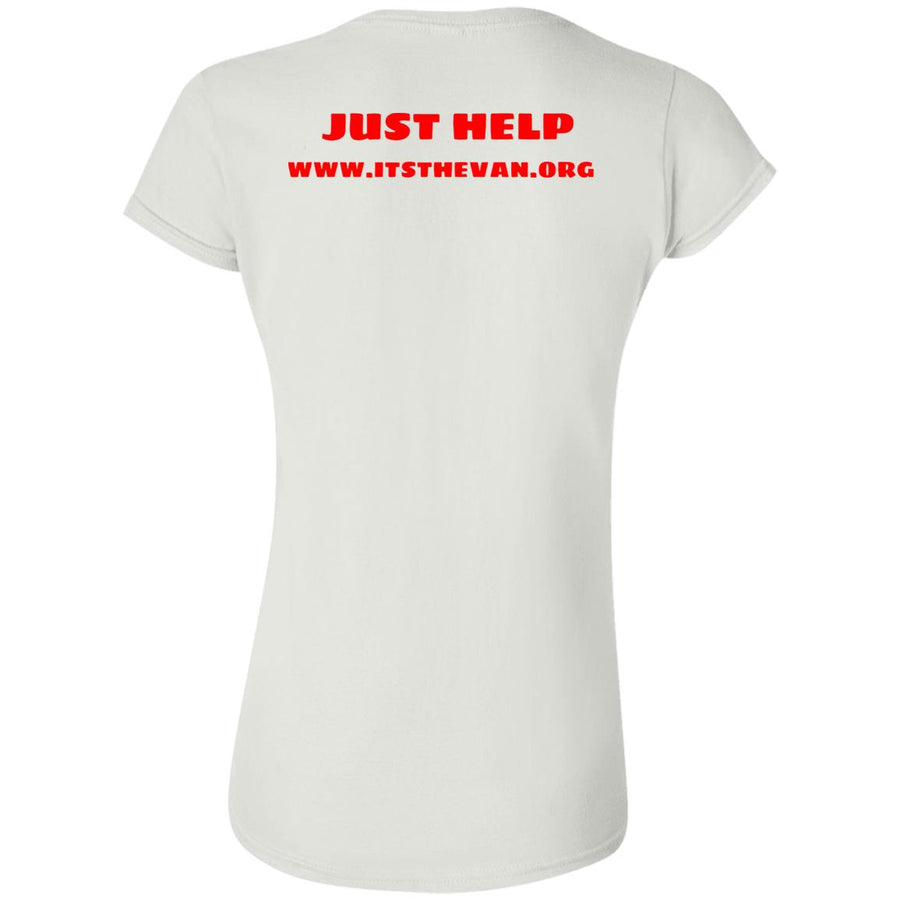 The Van Red Logo G640L Softstyle Ladies' T-Shirt