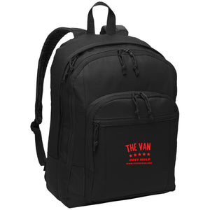 The Van Red Logo BG204 Basic Backpack