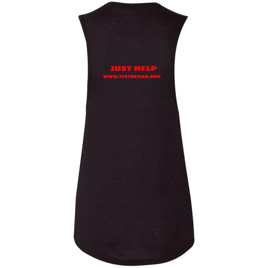 The Van Red Logo B8803 Ladies' Flowy Muscle Tank