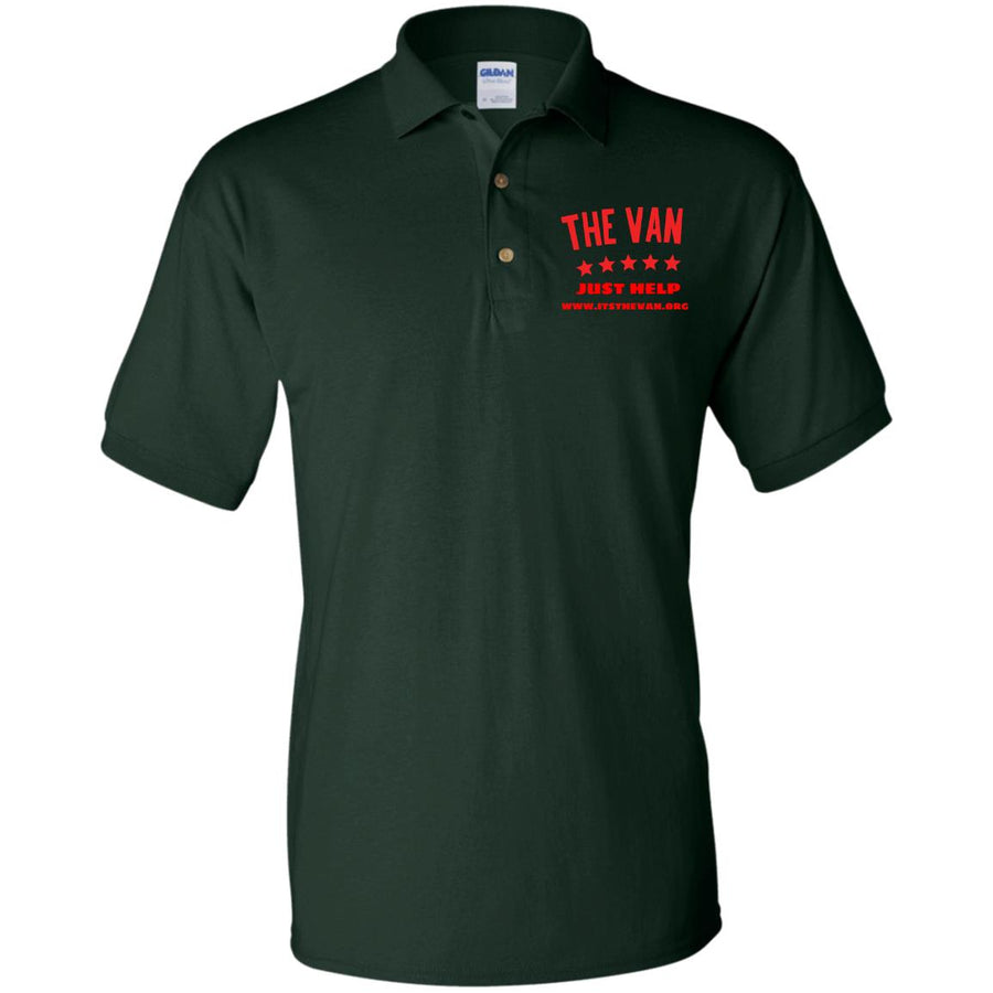The Van Red Logo G880 Jersey Polo Shirt