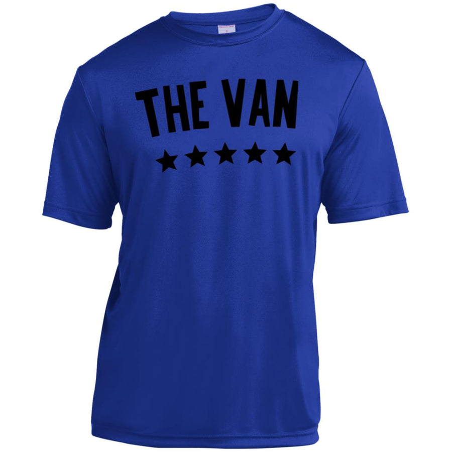 The Van Black Logo YST350 Youth Moisture-Wicking T-Shirt
