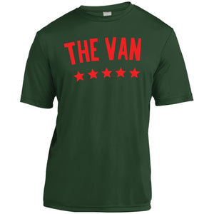 The Van Red Logo YST350 Youth Moisture-Wicking T-Shirt