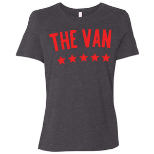 The Van Red Logo B6400 Ladies' Relaxed Jersey Short-Sleeve T-Shirt