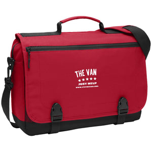 The Van White Logo BG304 Messenger Briefcase