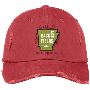 Back 5 Logo - PNG DT600 Distressed Dad Cap