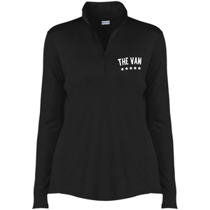 The Van White Logo LST357 Ladies' Competitor 1/4-Zip Pullover (White)