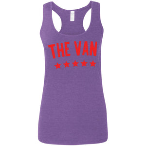 The Van Red Logo G645RL Ladies' Softstyle Racerback Tank