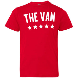 The Van White Logo 6101 Youth Jersey T-Shirt