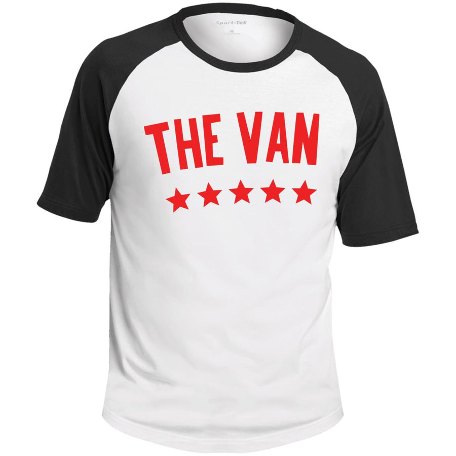 The Van Red Logo T201 SS Colorblock Raglan Jersey
